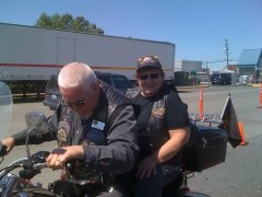 At a Motorcycle Blessings with Mark Reeves