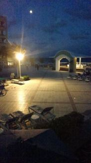 the main outside area at night