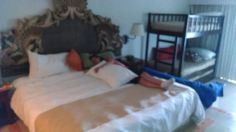 Our room with a sleeping princess