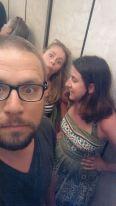 in elevator