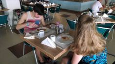 enjoying second breakfast together